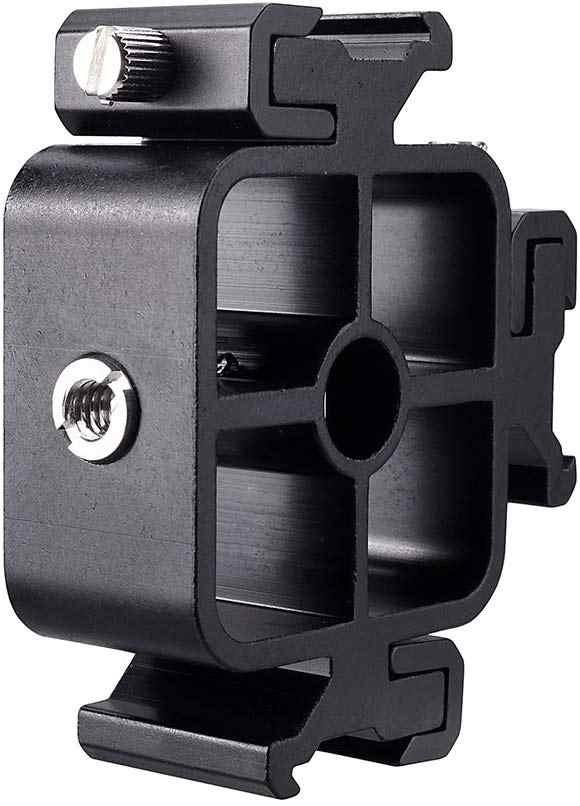 Triple Dingin Sepatu Gunung Flash Bracket dengan Ballhead Adaptor Ponsel Pemegang Fotografi Payung Pemegang untuk Monitor LED Smartphone