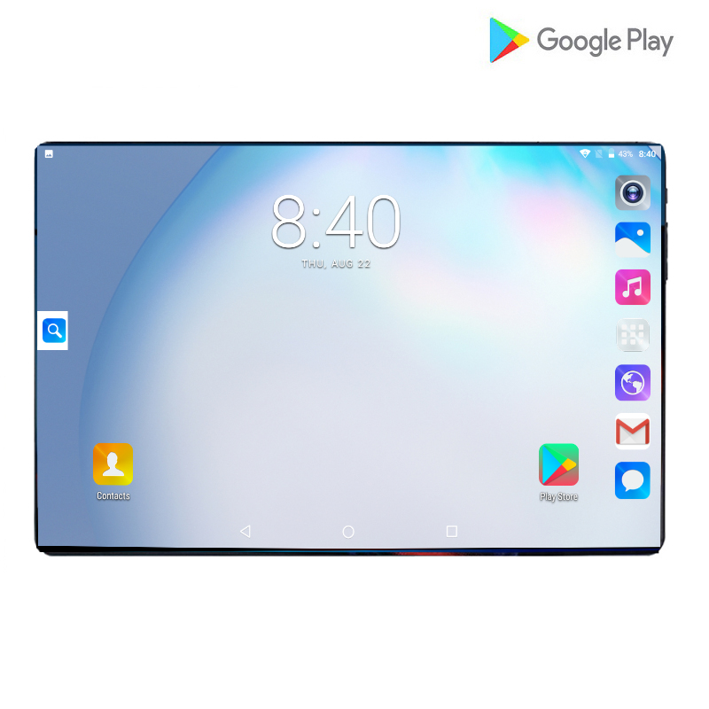 2019 Android 4G LTE 10.1 Tablet Screen Mutlti Touch Android 8.0 Octa Core Ram 6GB ROM 128GB Camera 8MP Wifi 10 Inch Tablet PC