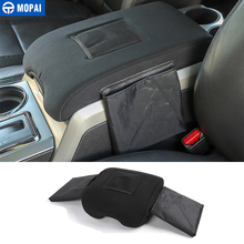 MOPAI Stowing Tidying for Ford F150 2009-2014 Car Rear Seat Armrest Box Pad Storage Bag Accessories
