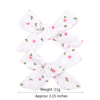 Colorful Bow Hair Clips for Girls 2 pcs Set 2