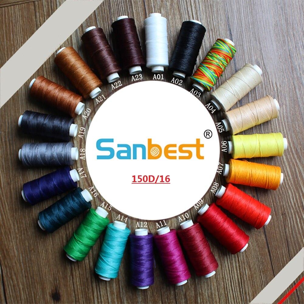 Sanbest 50 м/рулон вощеных нитей для шитья, 150D, плоский, прочный, прочный нейлон кожаные швейные нитки для рукоделия, обувь, швейные инструменты