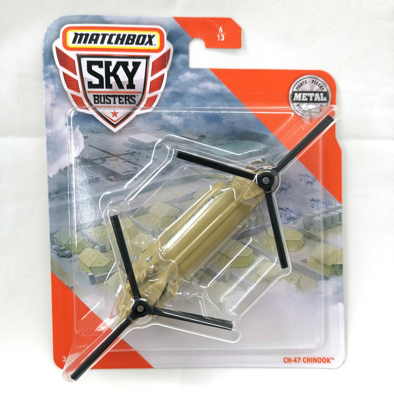 2020 Matchbox Plan Sky Busters CH-47 CHINOOK Metal Material Body Race Plan Collection Alloy Plan  Simulation Model
