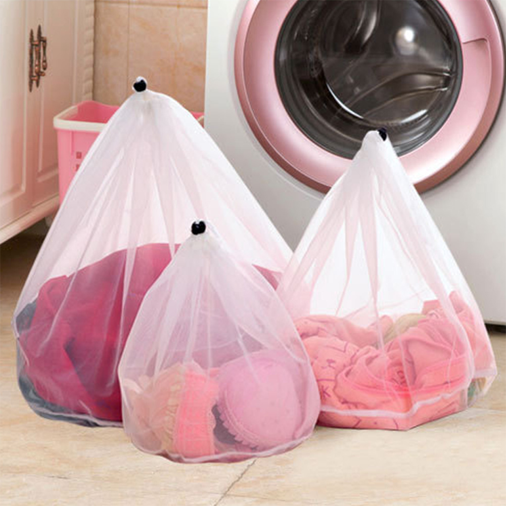 Drawstring Bag Net Bag Wash Mesh Bra Cleaning Bag Underwear Simple String Bag Creative Transparent Convenience Hot Sale 2019