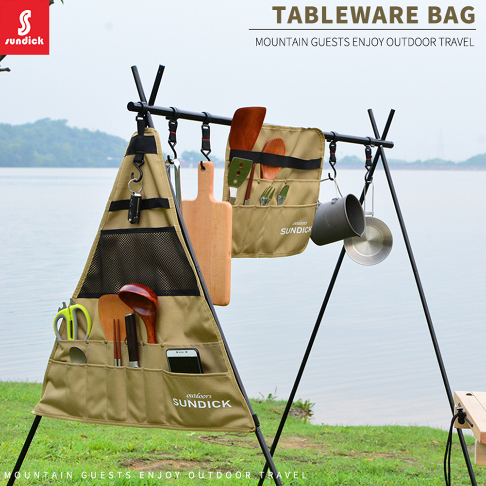 Waterproof 900D Outdoor Camping BBQ Tableware Storage Bag Portable Picnic Chopsticks Knife and Fork Spoon Bag