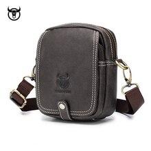 Маленькая мужская сумка через плечо из натуральной кожи, мини сумки через плечо из воловьей кожи, модные сумки, кожаная мужская сумка-мессенджер