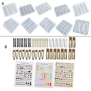 10 шт., силиконовые формы для заколок для волос