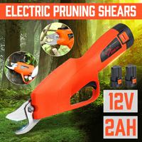 12V Battery Electric Pruning Shears Cordless Orchard Branches Cutter Cutting Tools Pruner Scissor Garden Pruning Tools Secateur