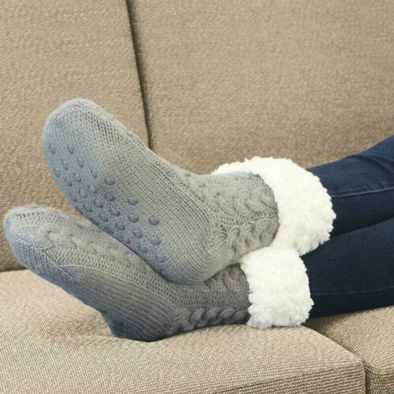 Winter Warm Women Men Socks Comfortable Cozy Fluffy Super Soft Anti Slip Thicken Floor Home Fleece-lined Christmas Gift Warmer