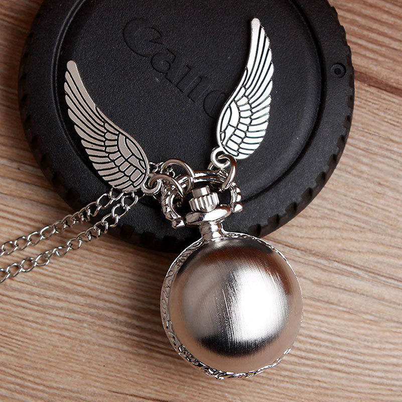 Harrys Golden Wings Snitch Toy Watch Small Ball Quartz Pocket Watch Necklace Balls Snitch Clock Toys Children Kids Gifts