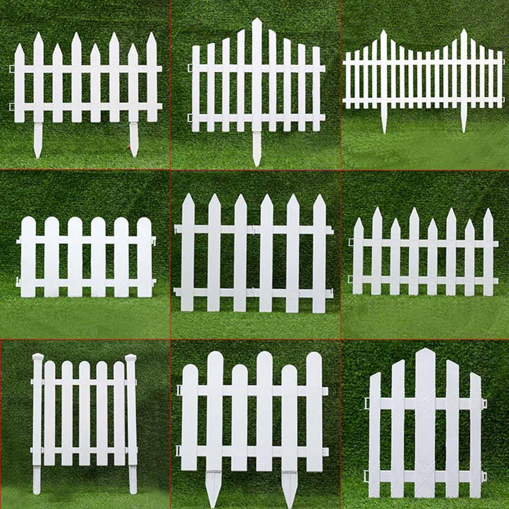 Small Wood Fencing White PVC Plastic Fence  Courtyard Indoor European Style Garden Vegetable Driveway Gates Christmas Decor