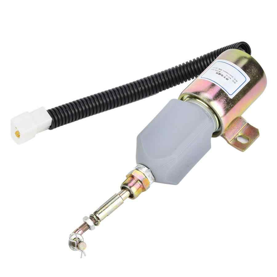 12V Steel Housing Fuel Shut Off Stop Solenoid Valve XHF-1121 E483310000093 Fit for Foton 483 Diesel