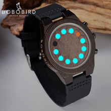 Get more info on the BOBO BIRD Luminous Wood Watch Men reloj hombre 12 Holes Timer Ebony Clock Sport Wristwatch with Gift Box Customized Name For Son