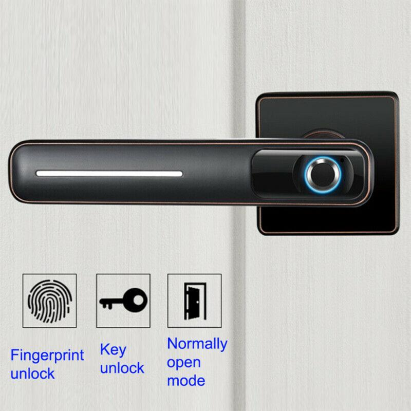 360° Biometric LED Indicator Smart Electronic Door Security Home Invisible Fingerprint Smart Lock Intelligent With 2 Keys 1 USB