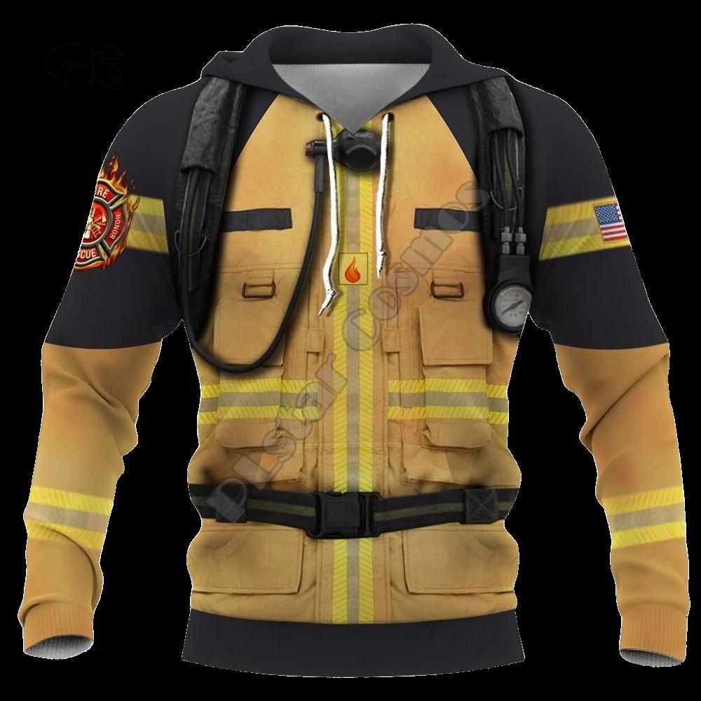 Men women Firefighter USA Flag Print 3d hoodies firemen jacket Sweatshirts zipper Unisex long sleeve Pullover tracksuit coat