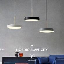 LED nordic cord hanging light modern minimalist restaurant pendant light bar designer creative single dining room pendant lamp
