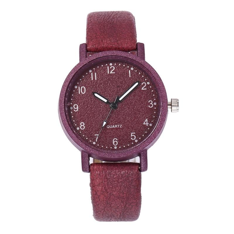 Top Brand Retro Simple Women Watches Ladies Casual Quartz Wrist Watch Leather Band Strap Watch Female Bracelet Wristwatch Clock