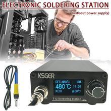KSGER T12 V3.0 STM32 OLED Digitale Temperatur Controller Löten Station Löten Eisen Stangen Elektrokauter Gerät