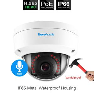 Image 4 - TOPROHOMIE H.265+ 8CH AI Face Record CCTV System POE NVR 5MP Audio Vandalproof Security POE IP Camera kit Video surveillance kit
