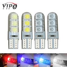 цена на W5W LED T10 194 168  5050 6smd Auto Wedge Clearance reading dome License Plate signal Light interior bulb Silica 12V car styling