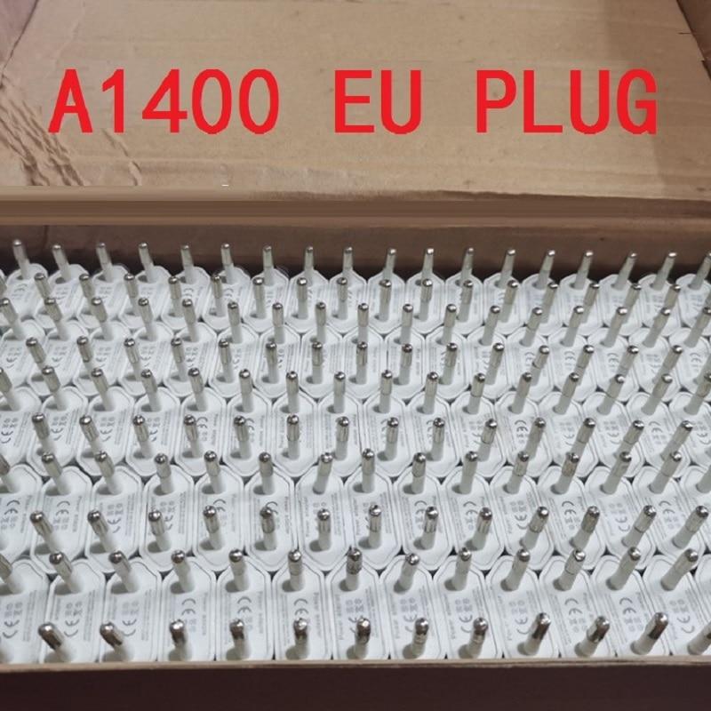 10 pçs/lote AAAA Qualidade A1400 UE Plug USB Carregador de Parede Adaptador de Energia AC para i phone 8 7 6 6S 5 5S plus