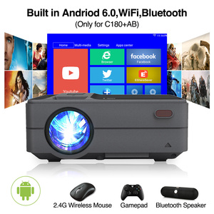 Image 2 - C180AB Portable Mini Wireless WiFi LED Smart Android Projector 720p Built in Speaker Bluetooth Full HD Home Theater Video Beamer