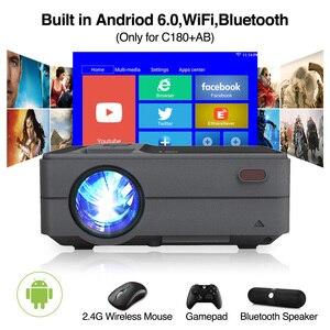 Image 2 - C180AB נייד מיני אלחוטי WiFi LED חכם אנדרואיד מקרן 720p מובנה רמקול Bluetooth מלא HD קולנוע ביתי וידאו Beamer