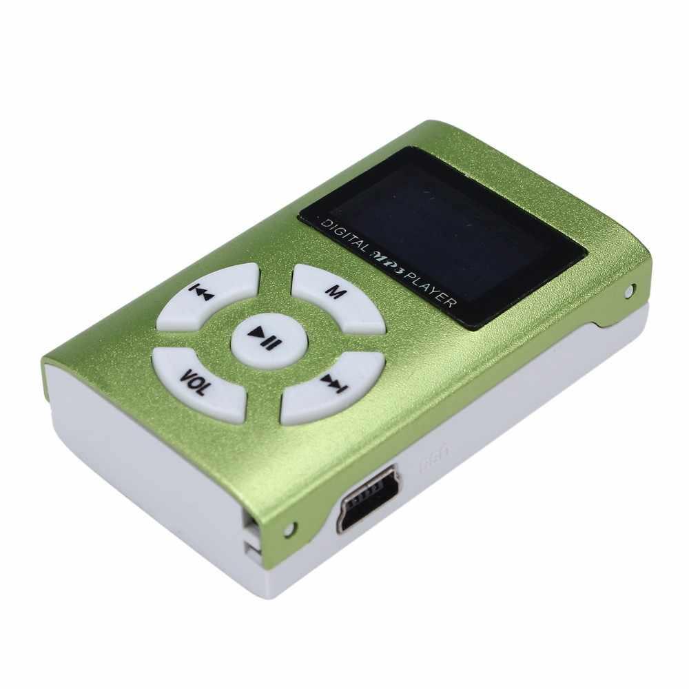 Ouhaobin USB مشغل موسيقى MP3 صغير شاشة LCD صغيرة 3.5 مللي متر مقبس استريو دعم 32 جيجابايت مايكرو SD TF بطاقة