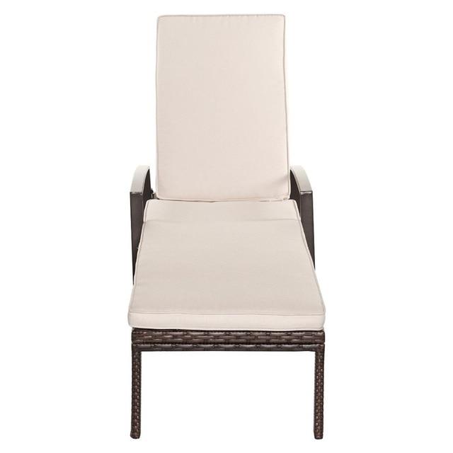 2 Pcs Adjustable Back Sun Lounge Chairs  4