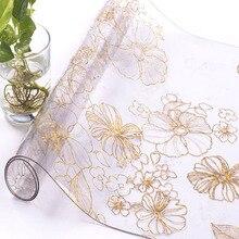 BALLE Mantel de mesa Rectangular de PVC transparente, 1,5mm, impermeable, con patrón de cocina, vidrio suave