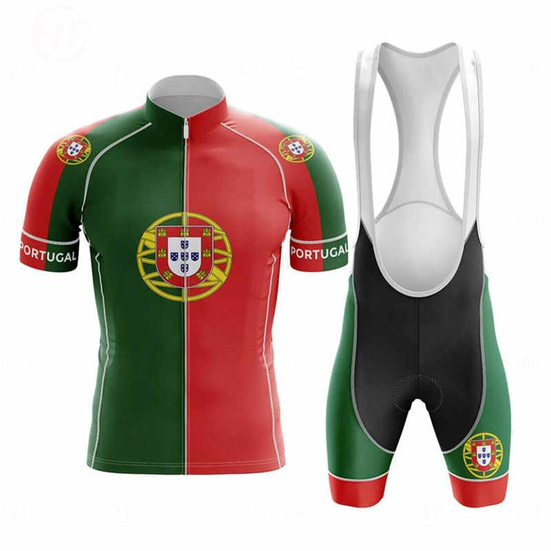 Cycling Clothing 2020 Portugal Triathlon Men's Race Cycling Jersey Set Bicycle Clothing Bike Wear Clothes MTB Maillot Ciclismo
