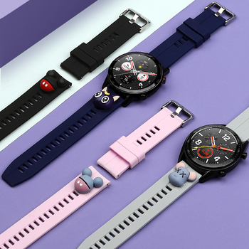 22mm watch band For Huawei Watch GT 2 2E 46mm /Honor Magic watch 2 for Samsung Galaxy Watch 3 Active 2 Gear S3 Frontier strap 22mm watch strap 20mm band for samsung galaxy watch 46mm 42mm active 2 gear s3 frontier leather watchband for huawei watch gt 2e