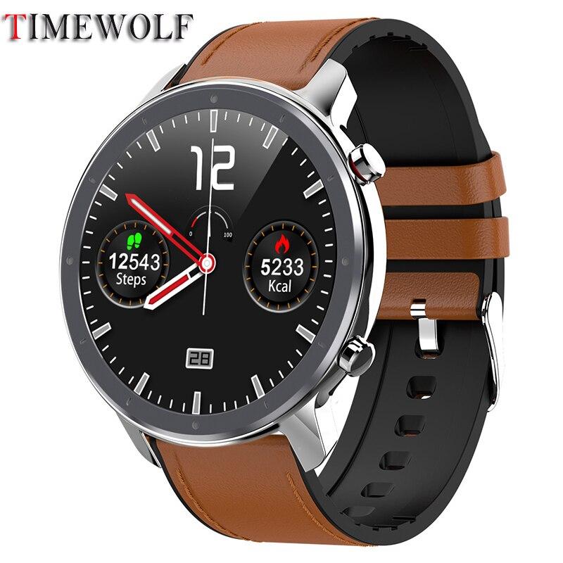 Reloj inteligente Timewolf para hombres con gran Dial Android PPG ECG reloj inteligente IP68 a prueba de agua para Apple Iphone Huawei Xiaomi Samsung XGODY ioutdoor T1 2G función de teléfono IP68 a prueba de golpes a prueba cep telefonu 2,4 ''128M + 32M GSM 2MP Cámara FM teléfono Celular 2G 2100mAh