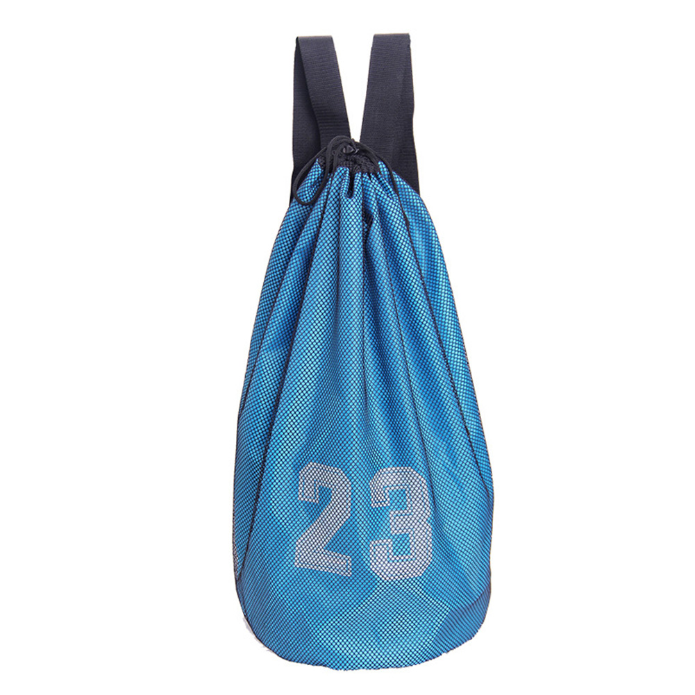 Soccer Mesh Backpack Drawstring Lock Large Capacity Training Sports Supplies Inner Pocket Basketball Bag Oxford Cloth Outdoor