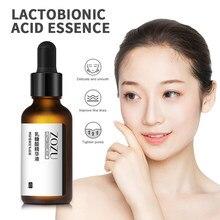 1 adet yüz Serum Lactobionic asit stok solüsyonu Serum gözenekleri en aza indirir Anti-aging kırışıklık kaldırma sıkılaştırıcı yüz serum TSLM1