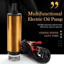 12v 24v bomba de óleo elétrica multifuncional para bombeamento de água de óleo diesel liga de alumínio elétrica submersível bomba de água de óleo diesel