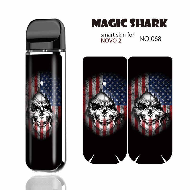 ماجيك القرش Venum ديابلو الحديد رجل USA العلم النمر Vape ملصقا قرنة حالة كامل التفاف فيلم الجلد غطاء ل Smok نوفو 2