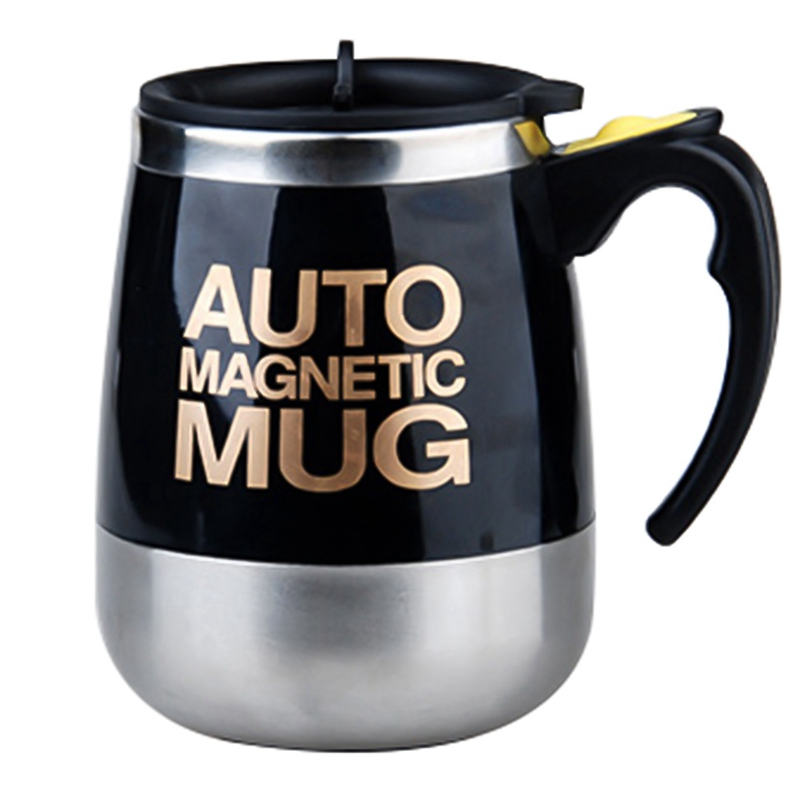 High Quality Coffee Mug Stainless Steel Magnetic Self Stirring Automatic Cover Milk Mixing Mugs Electric Smart Shaker Coffee