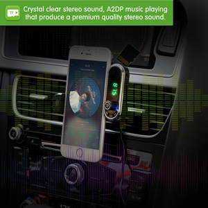 Image 2 - Multifunction Phone Holder Charger Fast USB Charger FM Transmitter Audio MP3 Bluetooth Car Kit Mic Handsfree for all Smartphone
