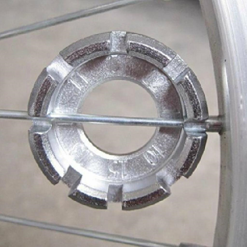 Bicycle Spoke Nipple Wrench 8 Way Groove Bike Wheel Rim Adjuster Spanner Galvanized Repair Service Tool Key