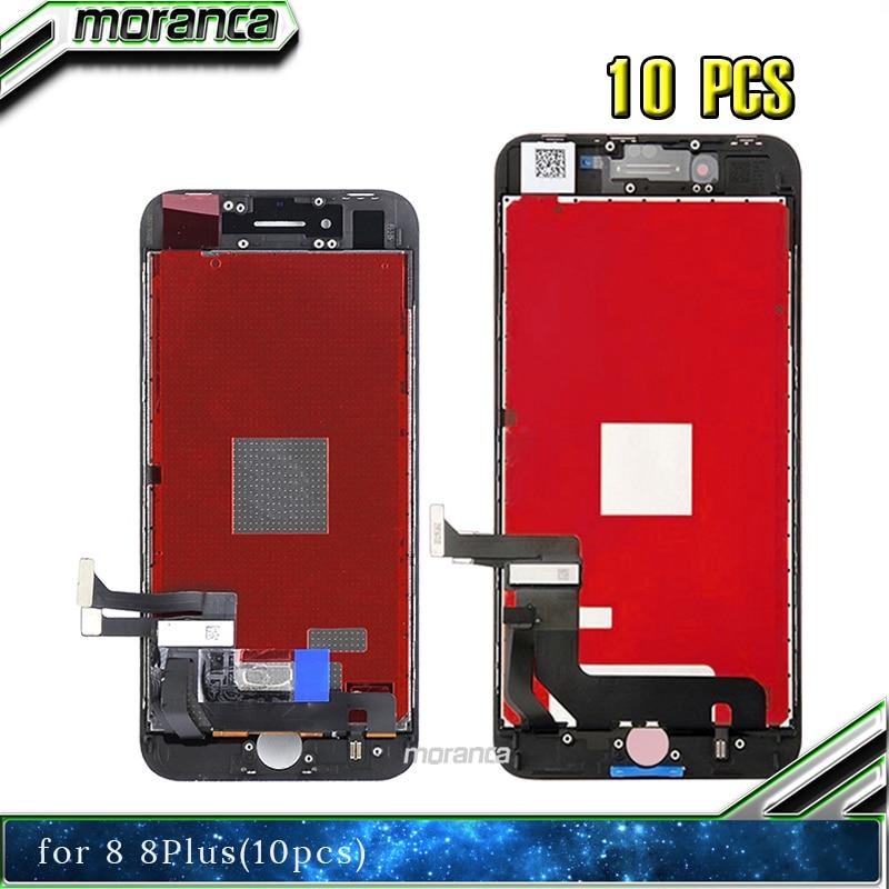 10 pièces verre d'écran Lcd AAA pour Iphone 5 5S 5C SE 6 6P 6S 6SP 7 7P 8 8P numériseur Lcd avec écran tactile