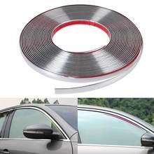 Universal 6mm 15mm 18mm 22 milímetros Car Chrome Moulding Guarnição faixa Exterior Adesivo Autocolante no vidro Grille Impacto Proteger acessórios em bom estado