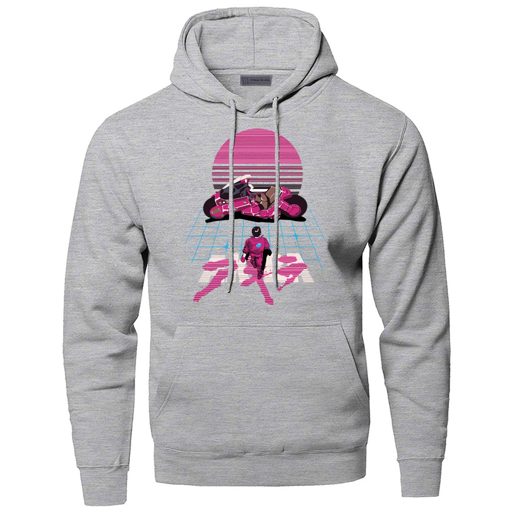 Akira Synthwave Japanese Anime Sweatshirts Hoodies Men Funny Hooded Sweatshirt Hoodie 2019 Winter Autumn Fleece Warm Sportswear