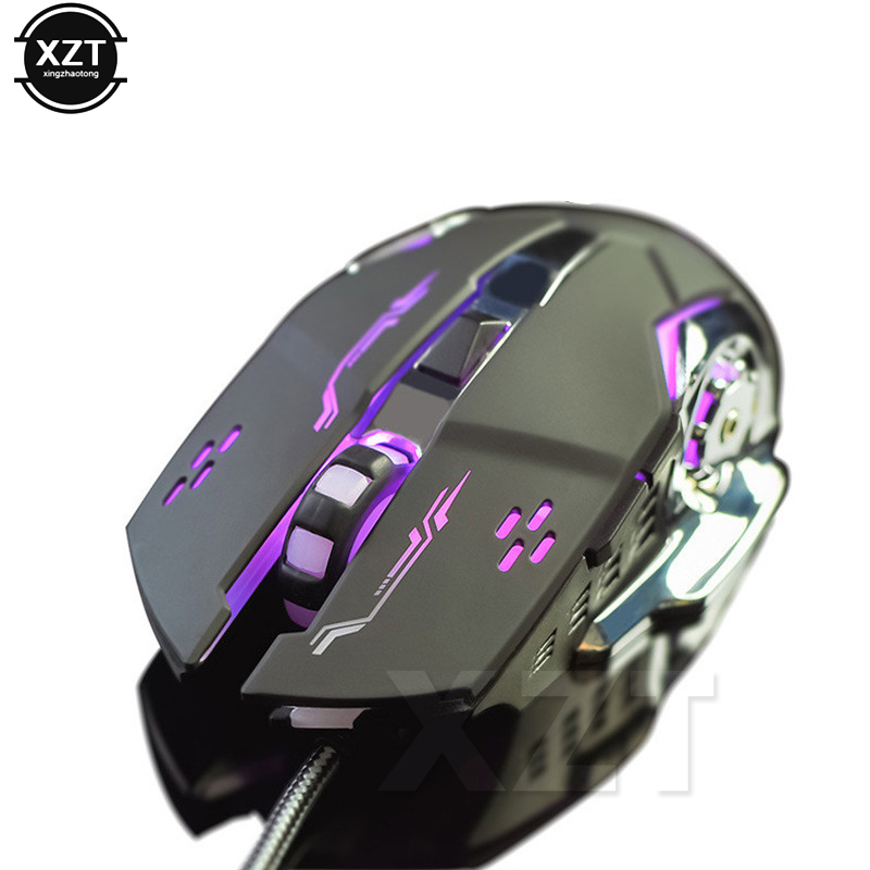Gaming Mouse Mause DPI Adjustable Computer Optical <font><b>LED</b></font> Game Mice Wired USB Games Cable Mouse LOL for Professional Gamer image