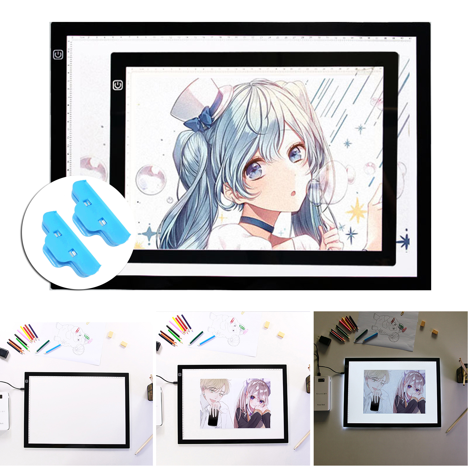 LED Drawing Board With Precise Scale Line USB Rechargeable For Embroidery Animation Sketching 2021