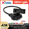 Auto Diagnostic Connector OBDII OBD 2 Connector Adapter for GM 12 Pin GM12 to 16 Pin Cable For GM Vehicles auto scanner adapter