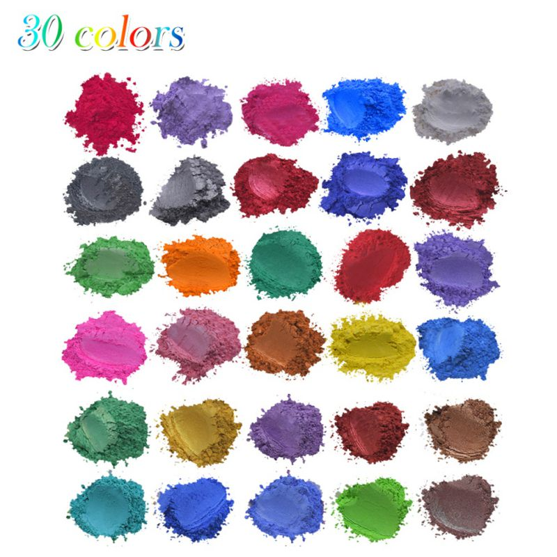 Natural Mica Powder Pigment Set DIY Makeup Handcraft Soap Candle Making Mica Non-toxic Children Handmade Gift Accessories