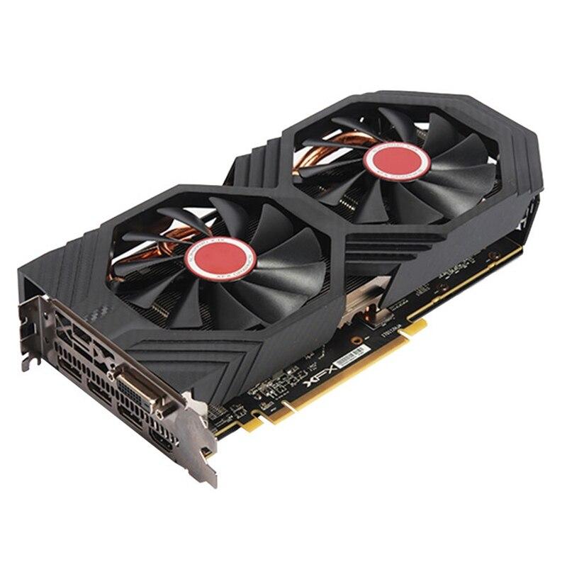 Оригинальные видеокарты XFX RX 580 4 Гб AMD Radeon RX580 4 Гб экран графические карты GPU для настольного ПК Компьютерная игровая карта не для майнинга б/у-3