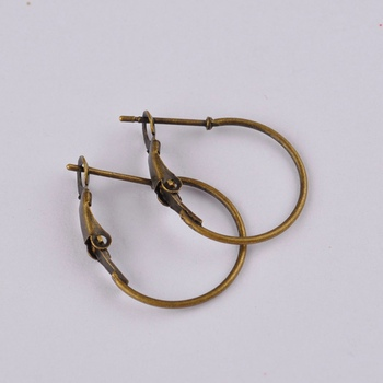 500pcs antique bronze small hoop earring findings round circle ring earrings jewelry findings accessories