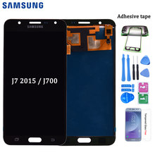 For Samsung Galaxy J7 2015 J700 J700F J700M J700H LCD Display With Touch Screen Digitizer Assembly adjust brightness(China)
