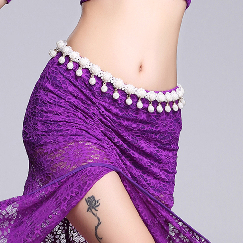 New Belly Dance Belt Sexy Master Bollywood Accessories Women Pearl Belly Dance Skirt Chain Wrap Hip Scarf Bead Waist Chain